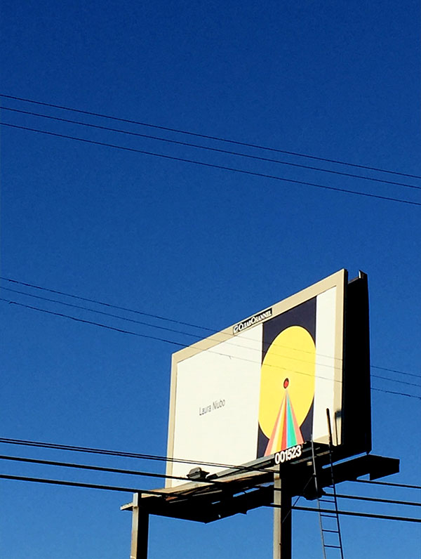 Spaceship Sun. Billboard art installation in L.A.