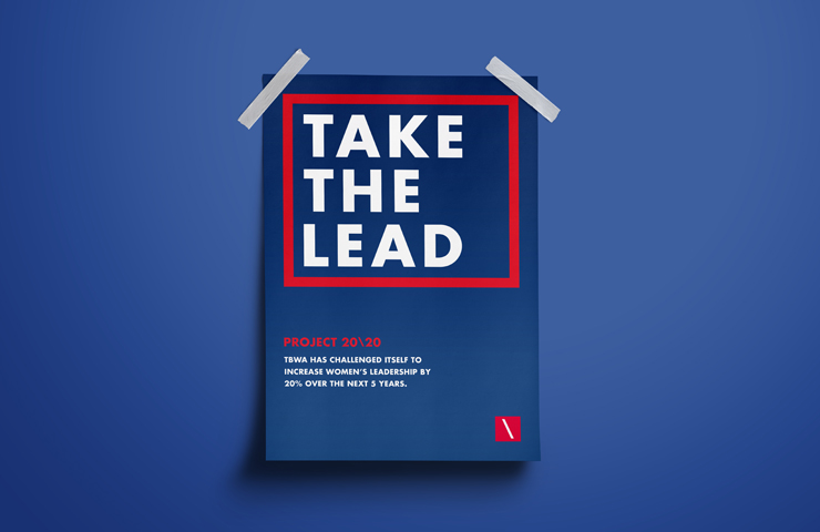 Take the Lead. Pro bono initiative to increase female leadership in the advertising industry.