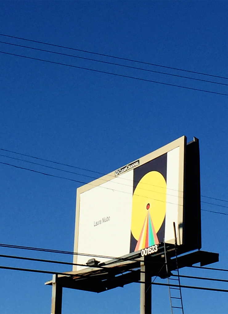 Spaceship Sun. Month-long outdoor billboard art installation in the city of Los Angeles.